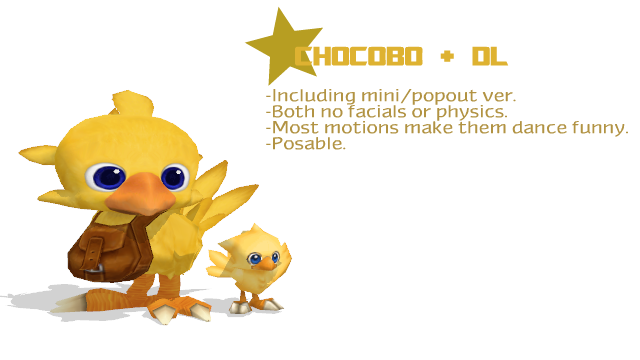 Chocobo transparent mini. Dl by mmdipede on