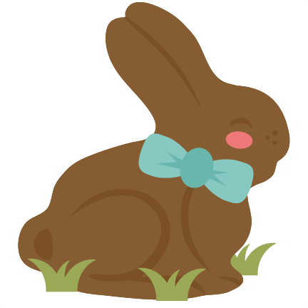 And svg bunny. Chocolate cutting files for