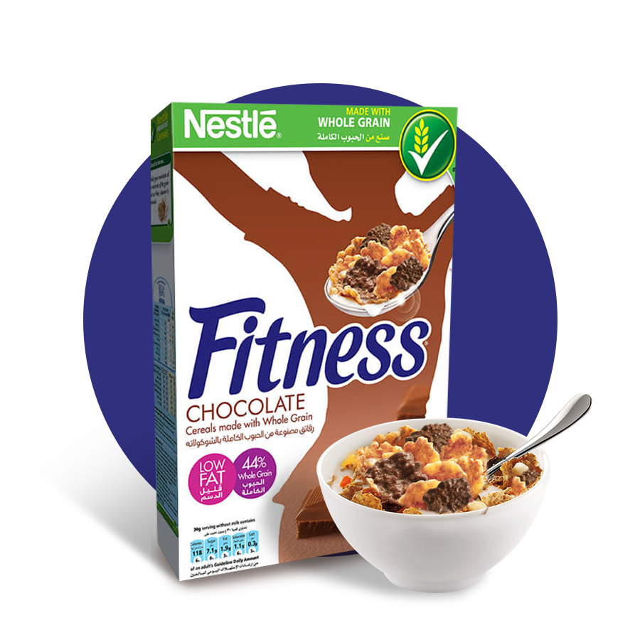 Chocolate cereal png. Nestl fitness breakfast