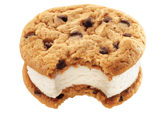 Ice cream sandwich png. Mrs fields chocolate chip