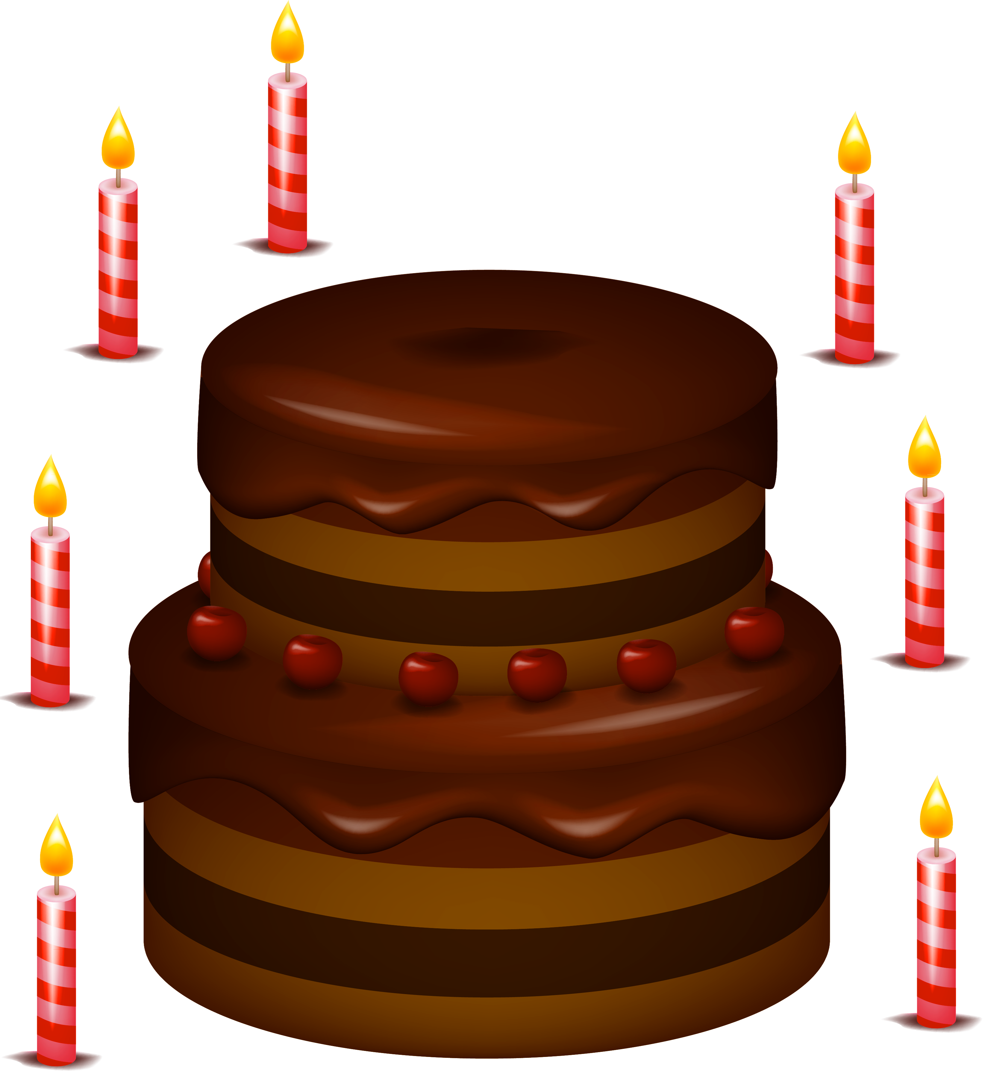 Cake With Candles Png