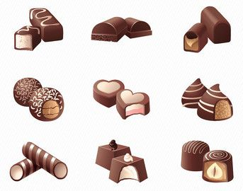Chocolate clipart chocolate lollipop. Food illustration ca etsy