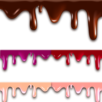 Melting vector melted cheese. Chocolate dripping png vectors