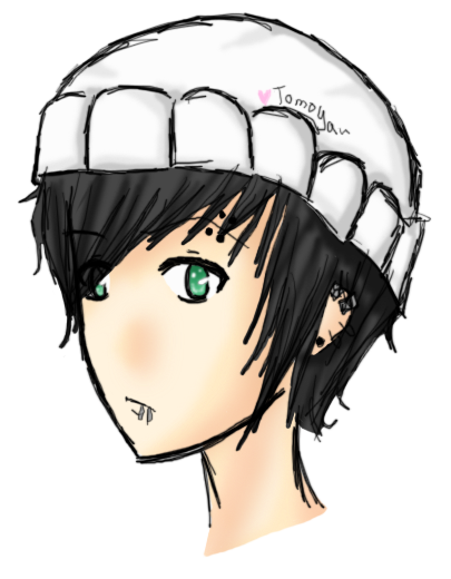 Choker drawing beanie. Guy in xd by