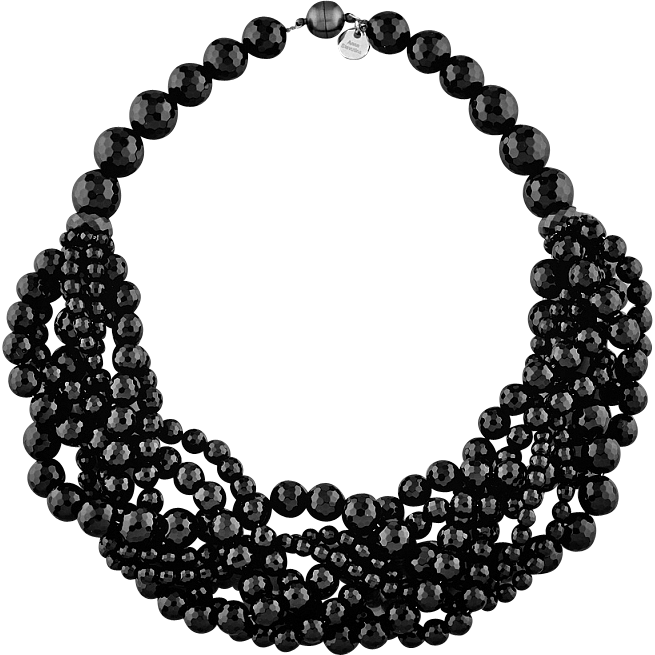 Choker drawing black and white. Multilayered impressive statement necklace