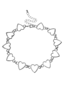 Choker drawing heart. Popular shape metal hollowed
