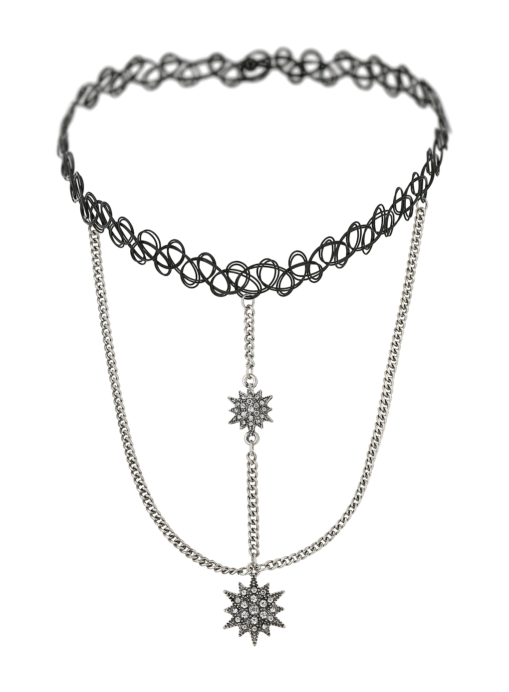 Choker drawing tattoo. Necklace jewellery transprent png