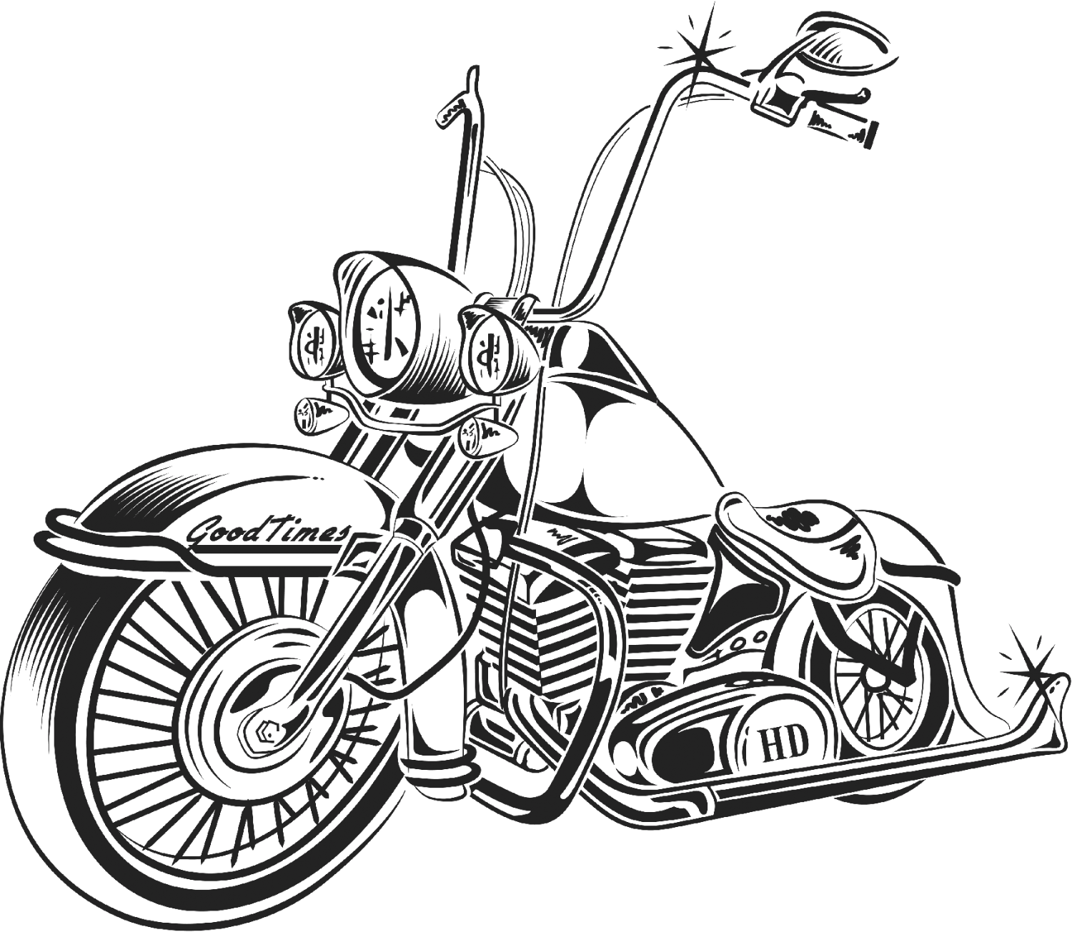 Pachuca drawing lowride. Motorcycle chopper at getdrawings