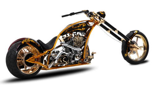 Transparent motorcycle chopper. Png image