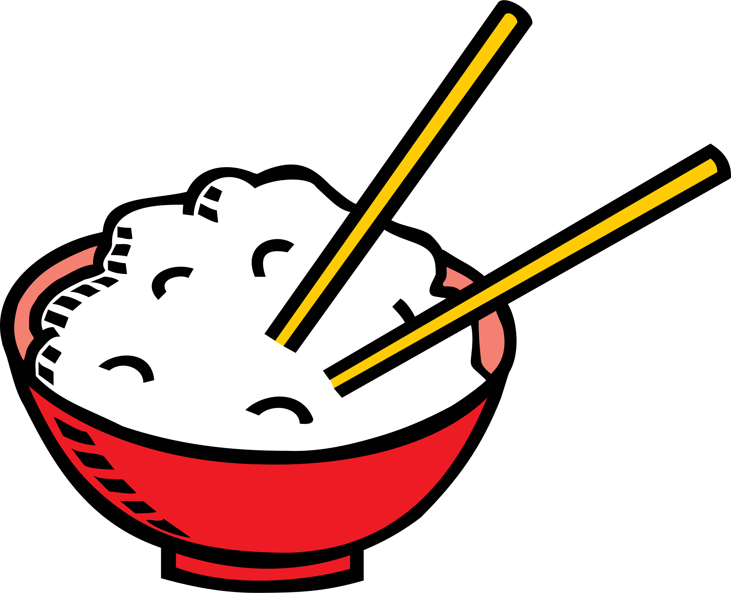 Chopsticks clipart plate rice. Free cliparts download clip