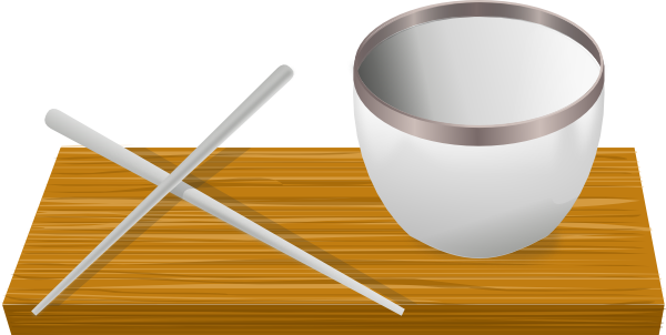 Chopsticks clipart plate rice. Bowl with clip art