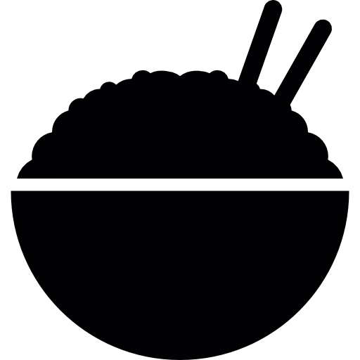 Chopsticks clipart plate rice. Bowl with free food