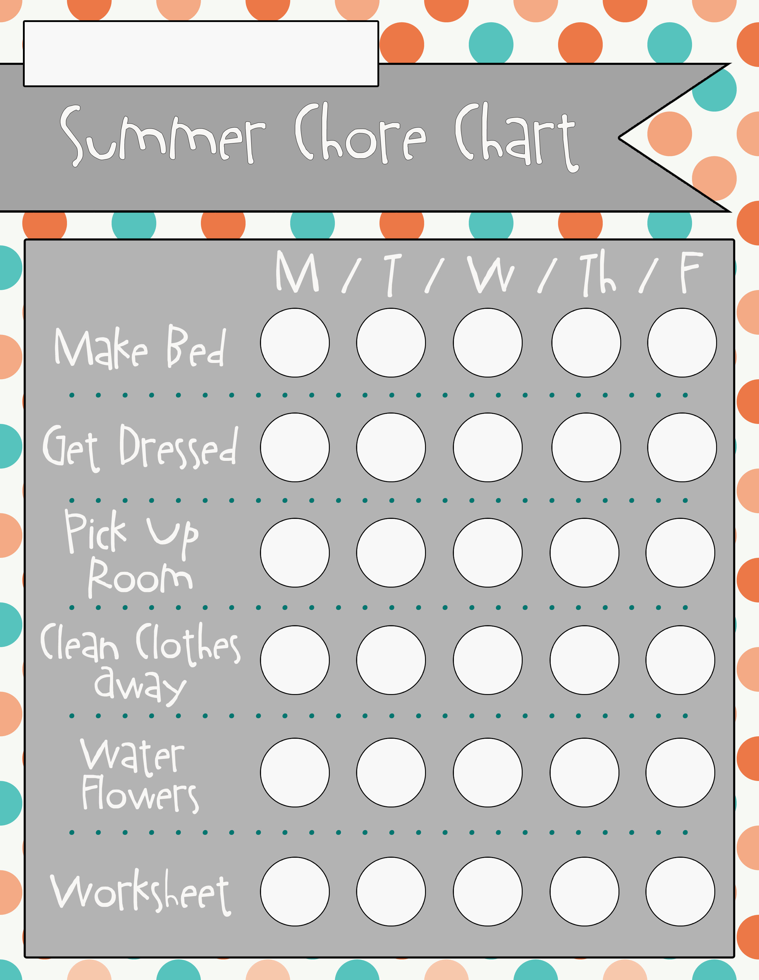 Chore clipart summer. Charts download design completed