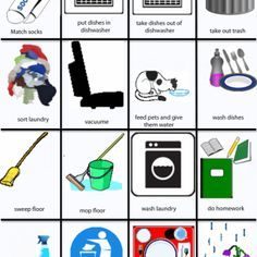 Chore clipart visual cue. Free printable cards pinterest
