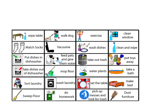 Chore clipart visual cue. Free printable charts these