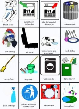 Chore clipart visual cue. Free printable charts that