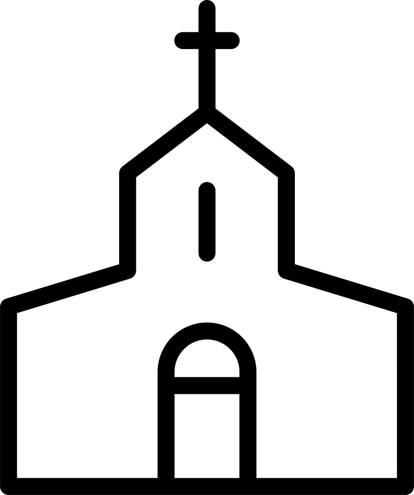 Church icon white png