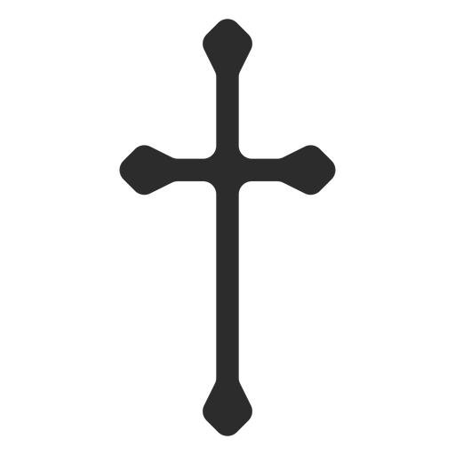 Long cross icon transparent. Christian svg graphic royalty free