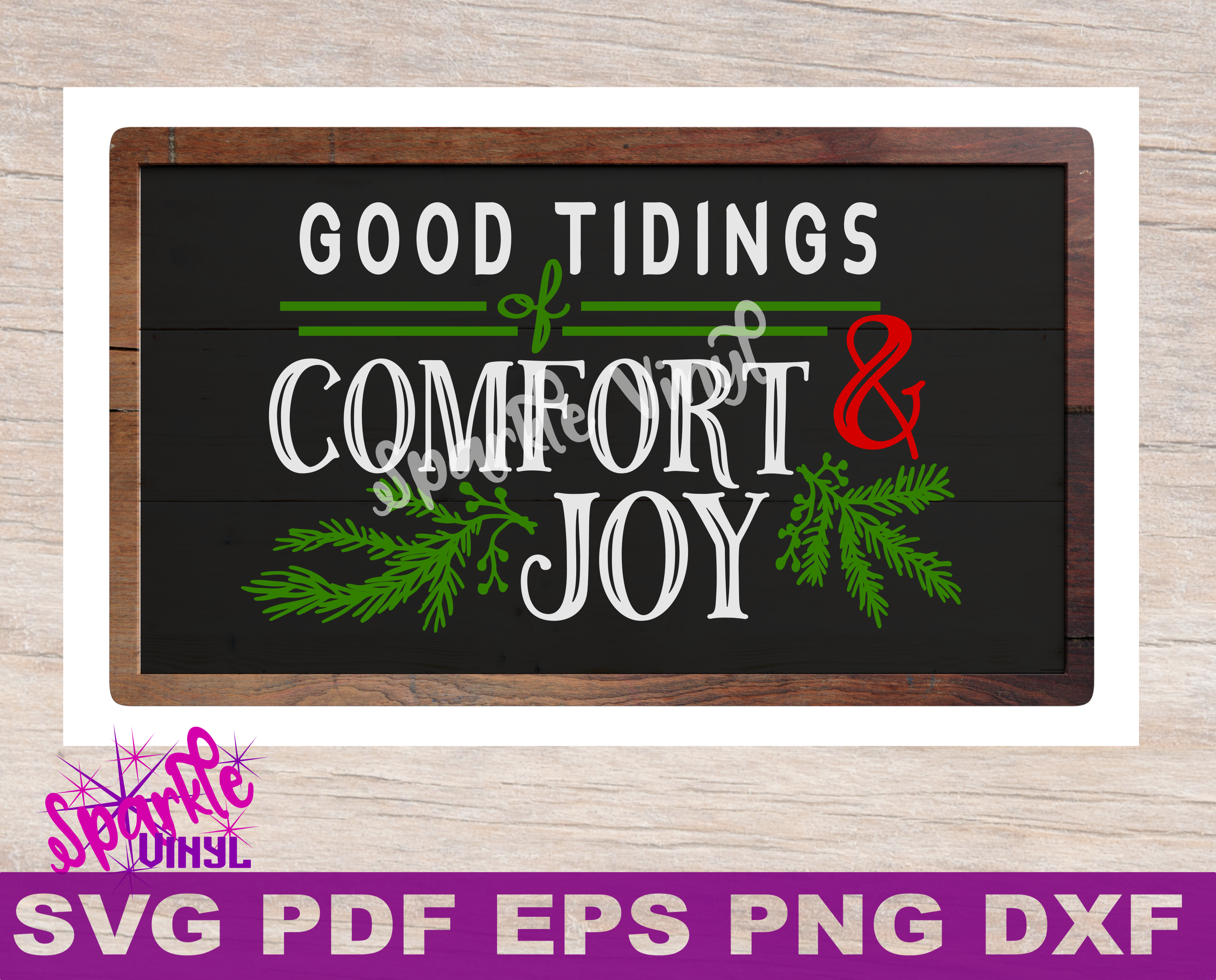 Christmas comfort and joy. Christian svg eps dxf clipart library download