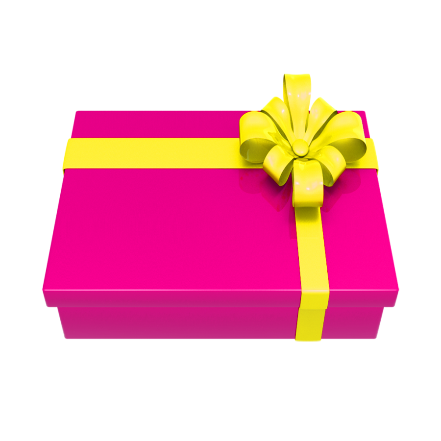 Vector present transparent background. Christmas gift png image