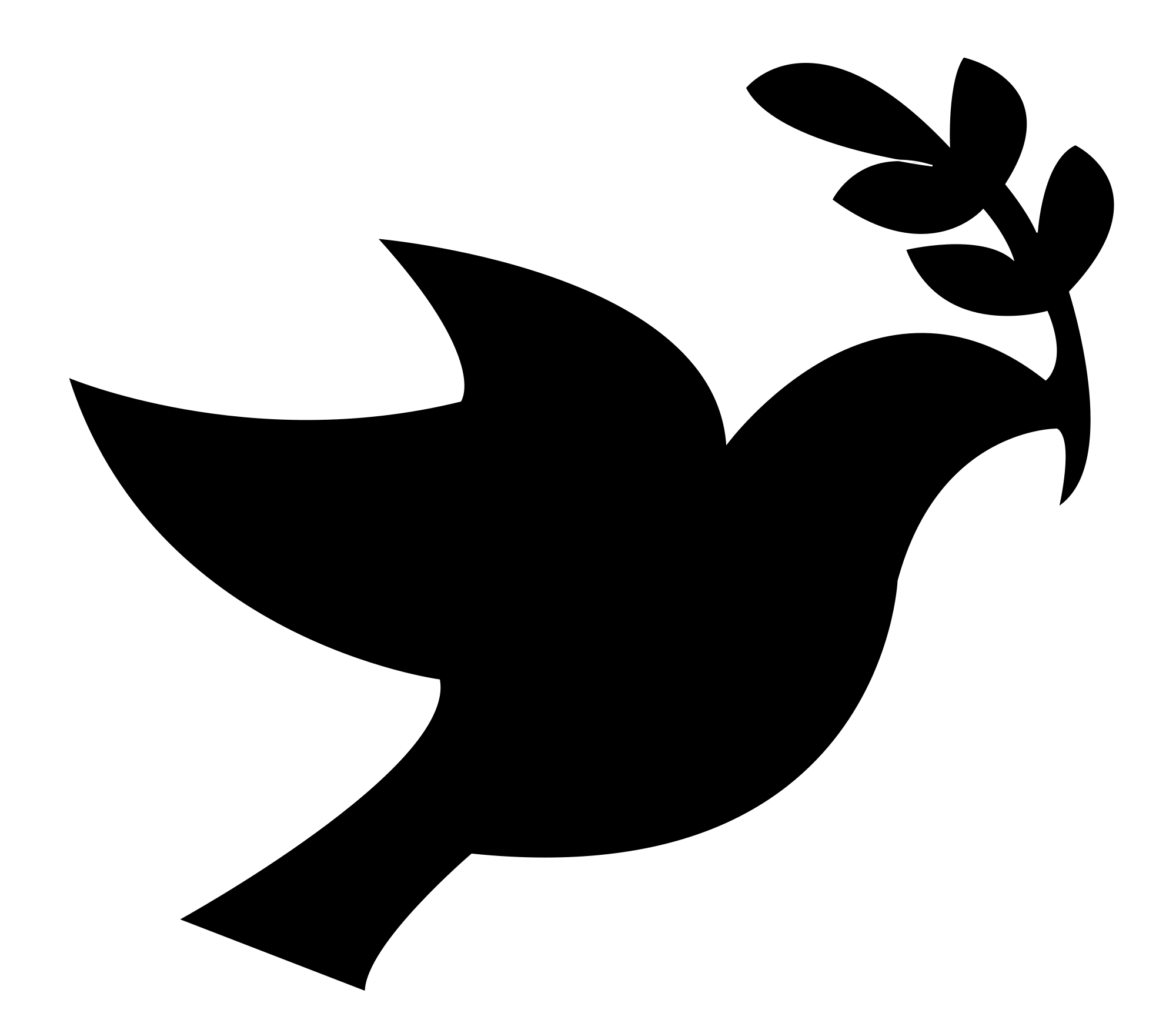 Christian vector dove. File black peace svg