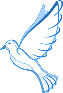 Christian vector dove. White clip art at