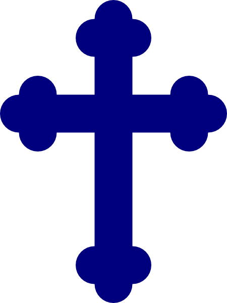 Crucifix vector art. Christian cross image