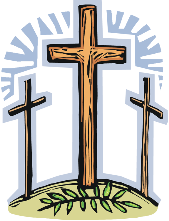 Christian vector holy week. Collection of free crucifying