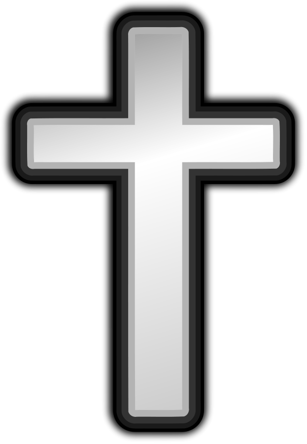 Christian vector modern cross. Image transparent huge