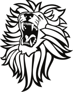 Christian vector roaring lion. Clip art online royalty