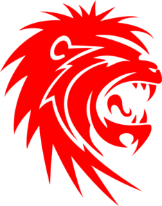 Lions vector red lion. Roaring clip art at