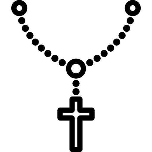 Christian vector rosary. For praying free shapes