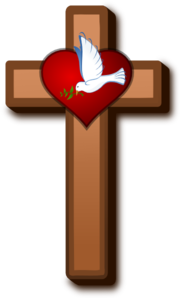 Christian vector rustic cross. Love at holy clip