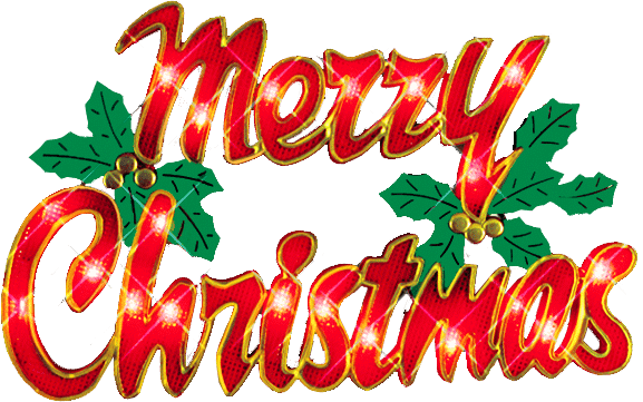 Transparent neon merry christmas. Biz info