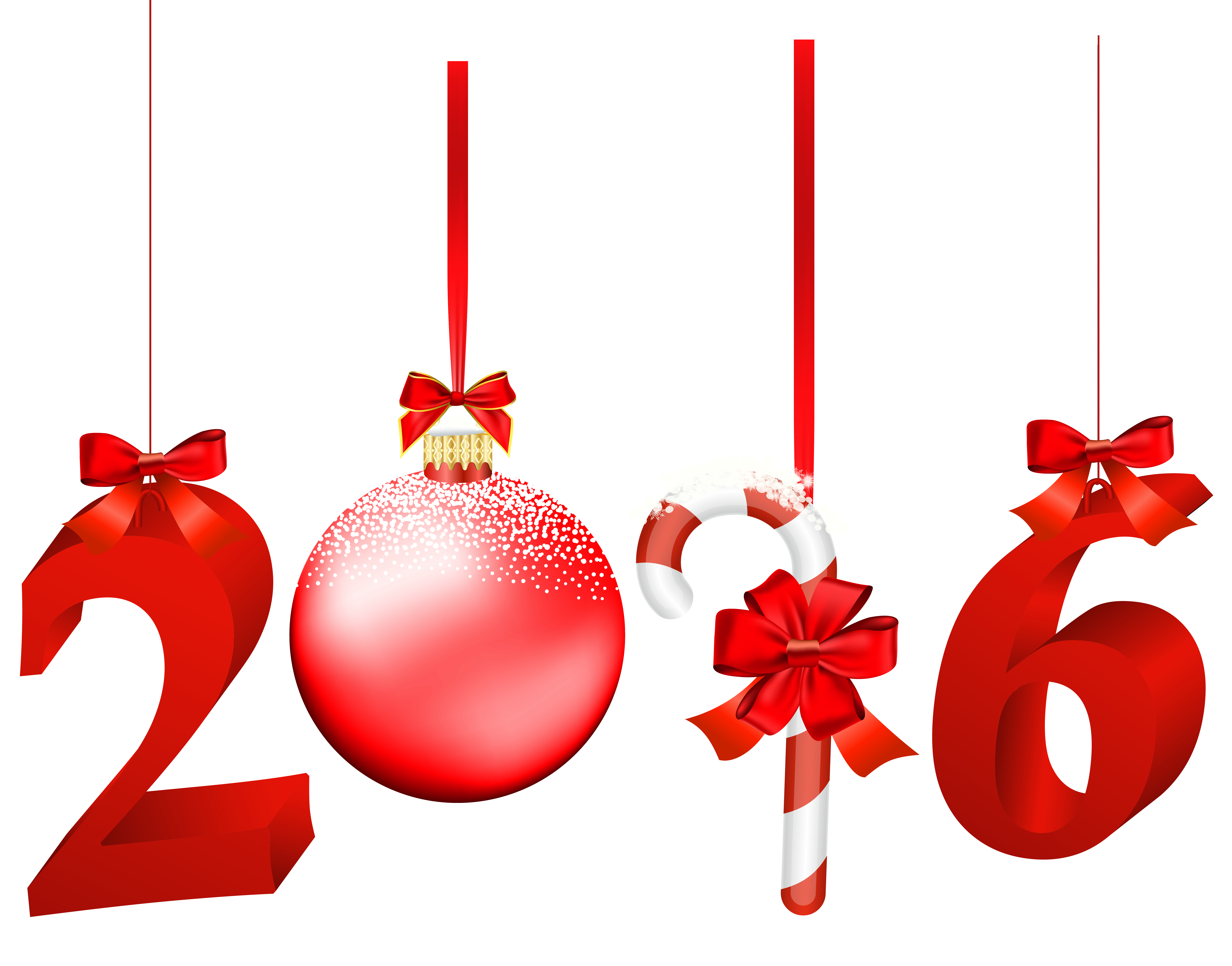 Christmas 2016 png. Red transparent clip