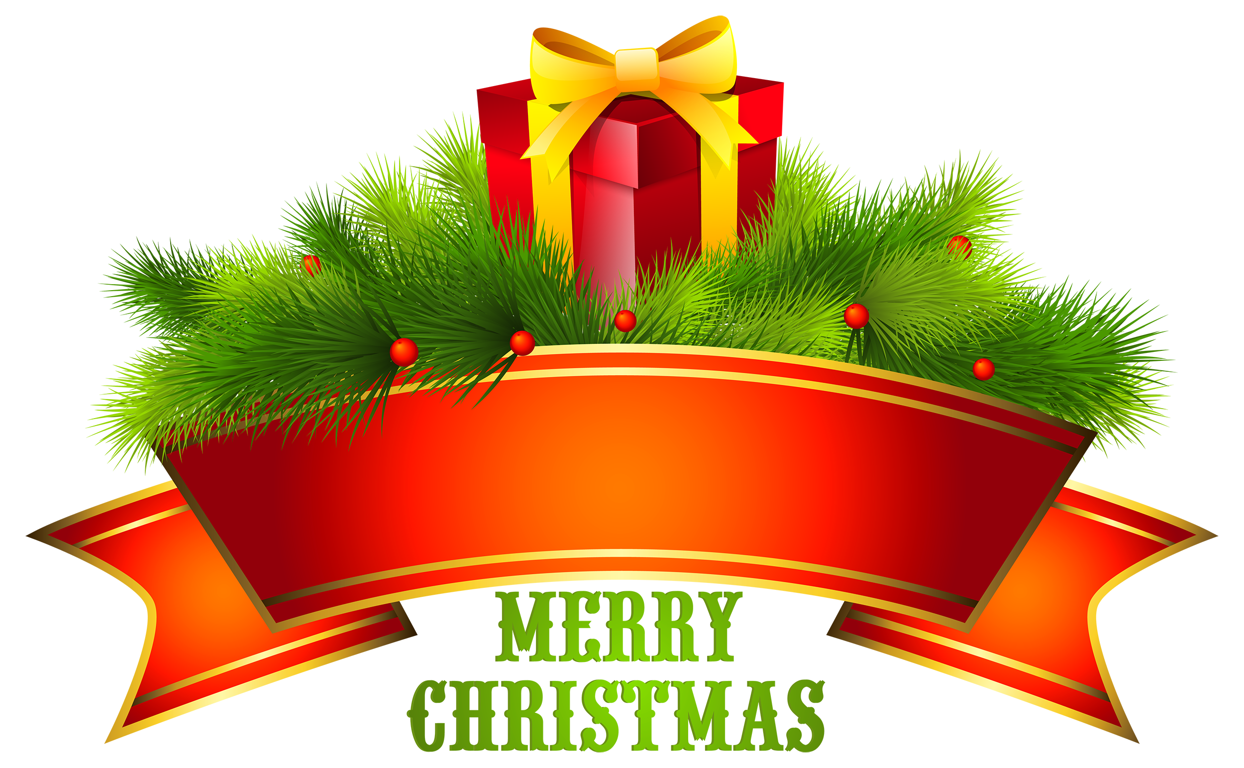 Christmas 2016 png. Merry text decor clipart