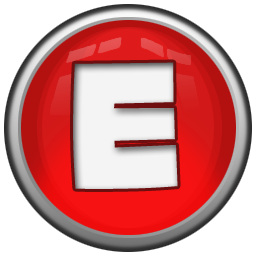 Christmas alphabet letter e png. Icon red orb iconset
