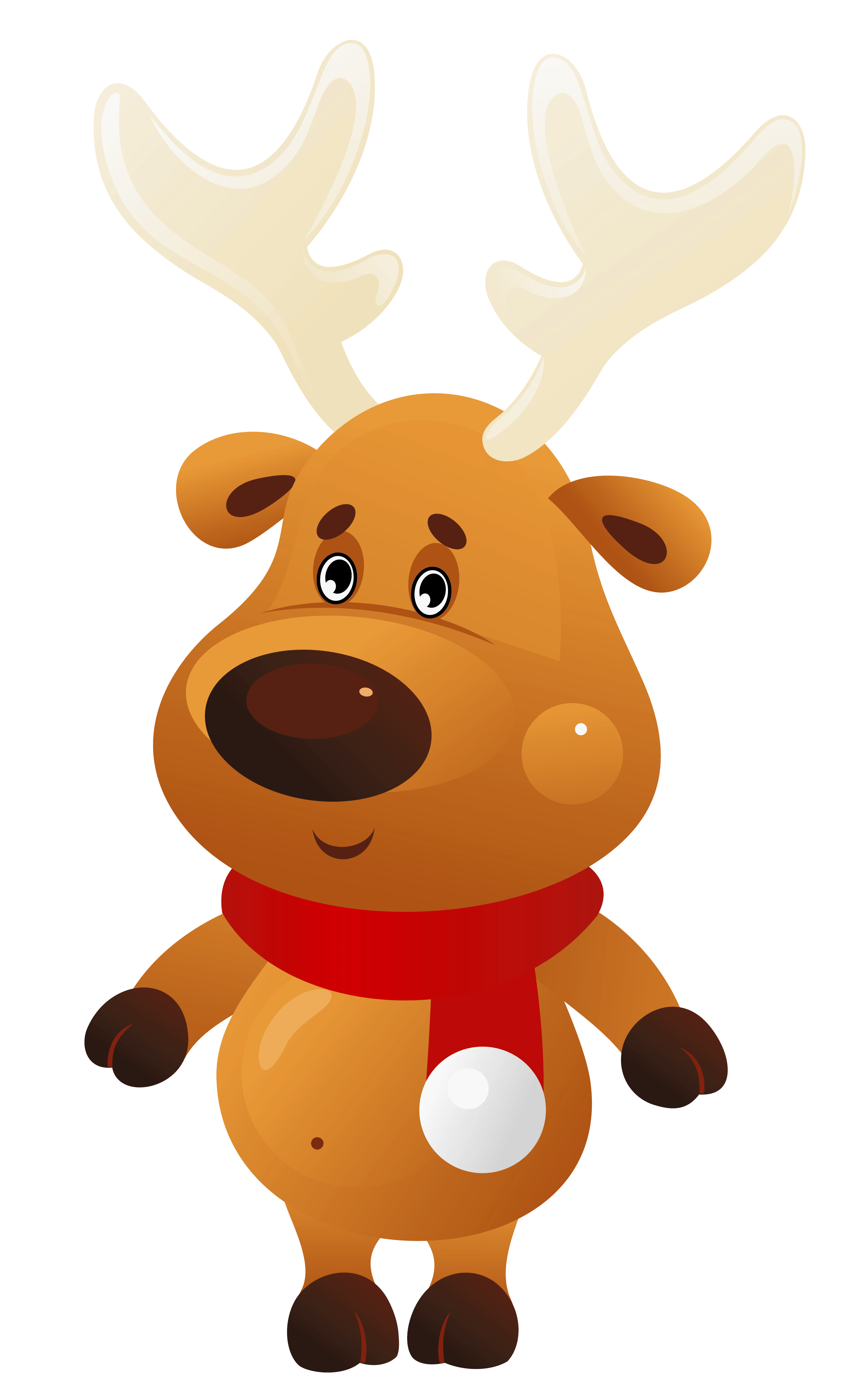 Christmas antlers png. Cute reindeer with red
