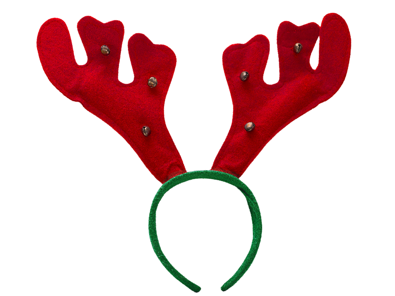 Rudolph antlers png. Reindeer headband isolated objects