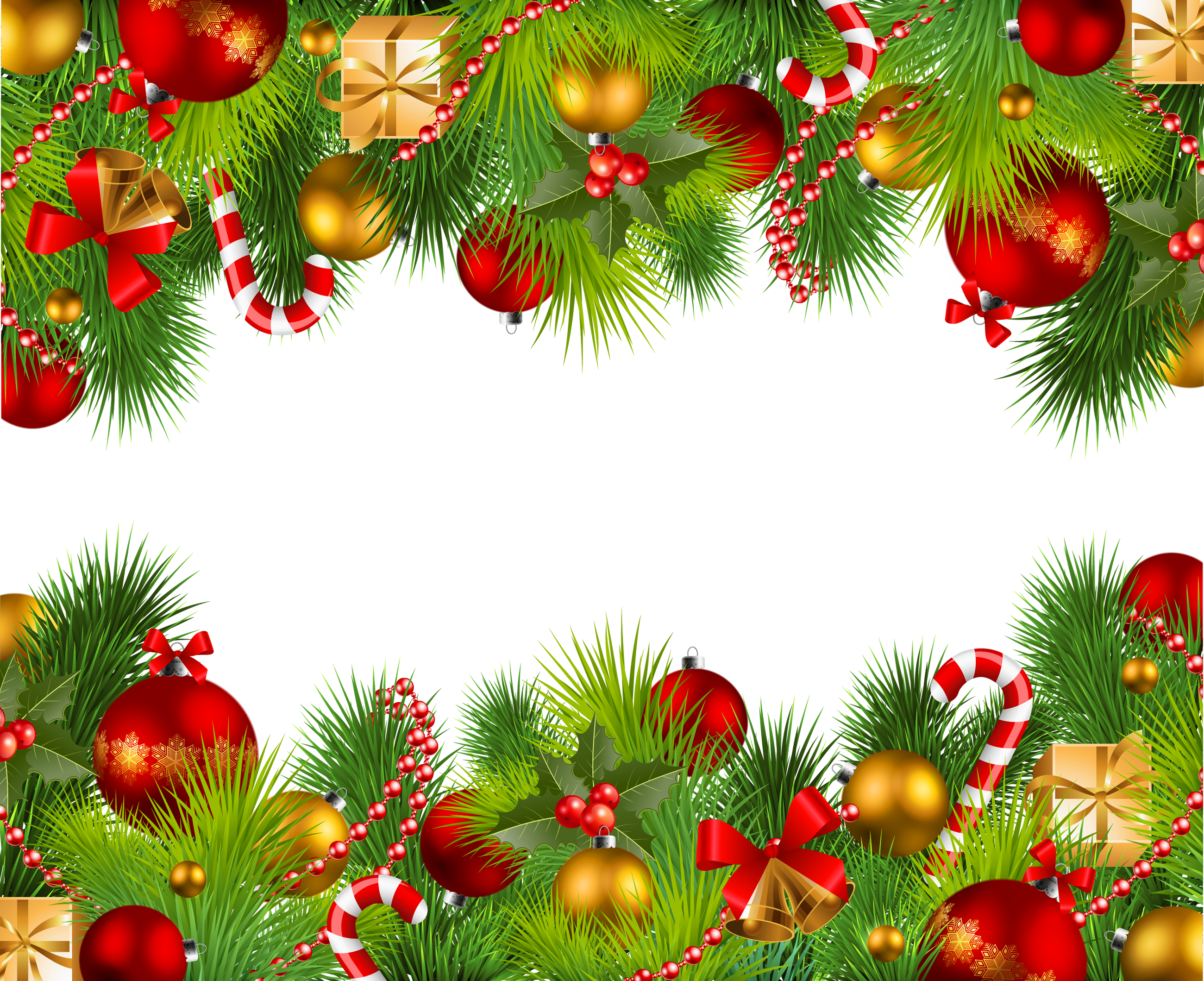Beautiful transparent png photo. Christmas borders .png vector library library