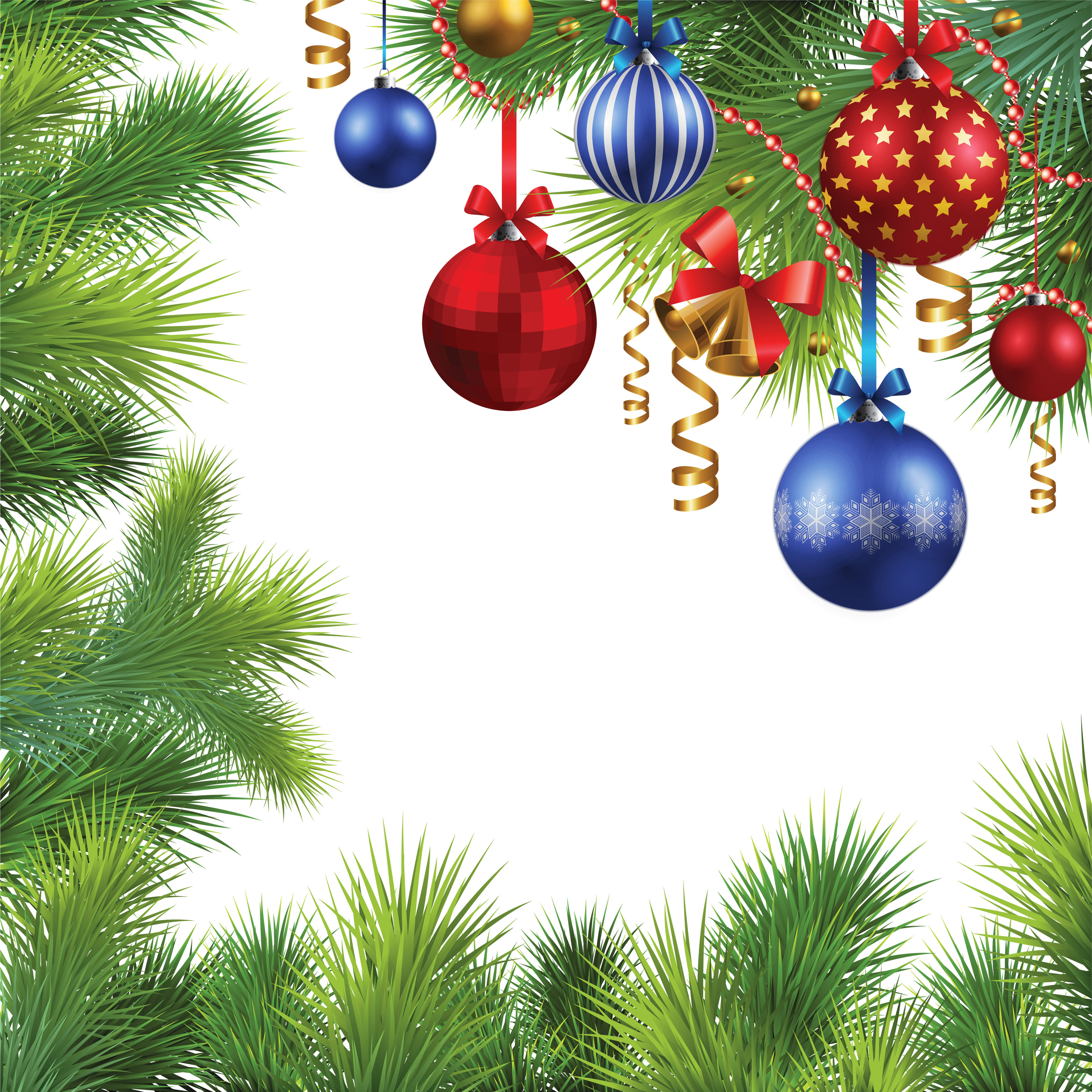 Vector hd christmas. Balls tree frame png