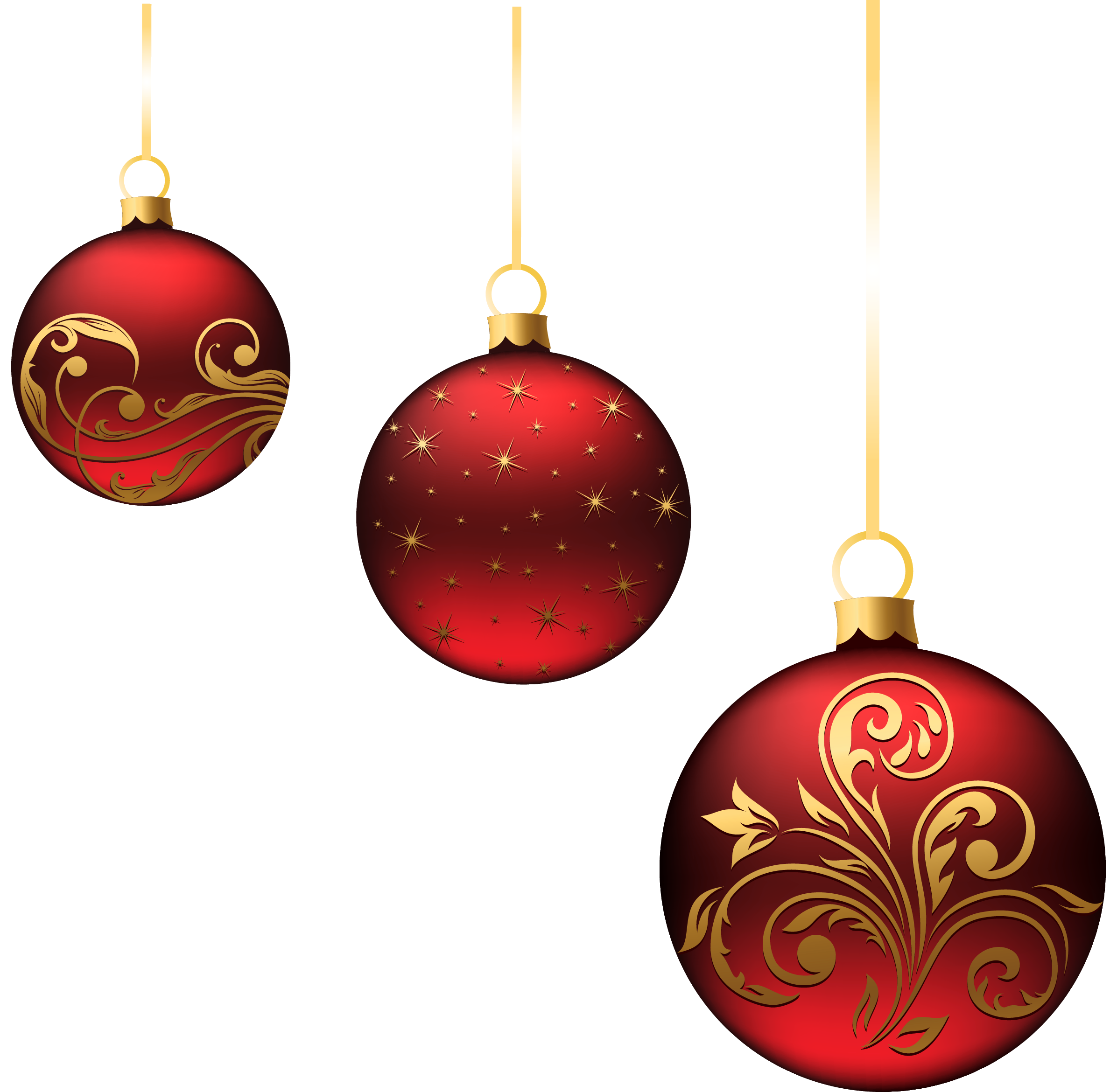 Christmas ball ornament png. Red balls ornaments picture