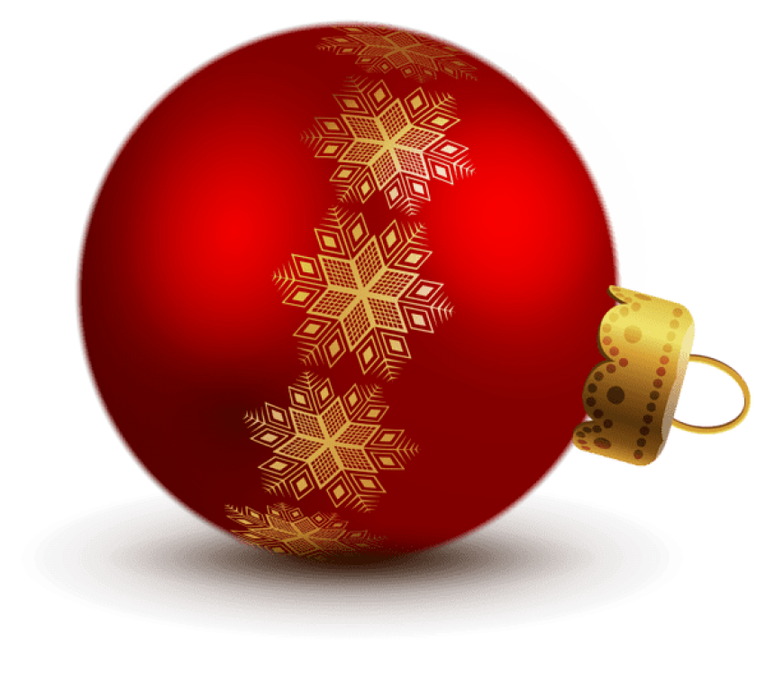 Red ornaments png. Transparent christmas ball free