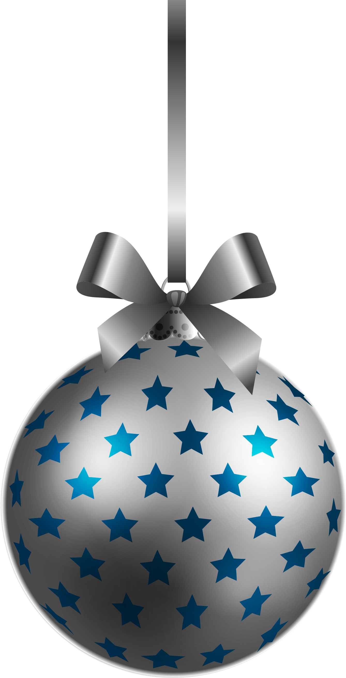 Christmas ball ornament png. Large transparent bluesilver clipart