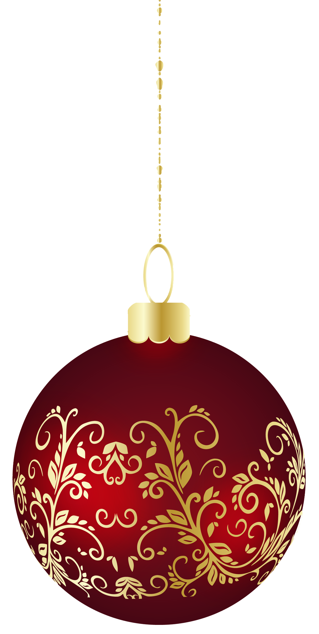Christmas ball ornament png. Large transparent clipart chimes