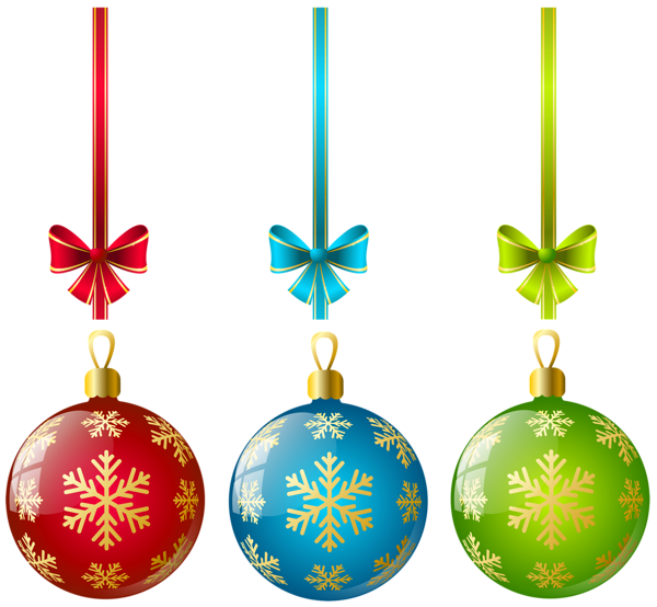 Christmas ball ornaments png. Large transparent three clipart