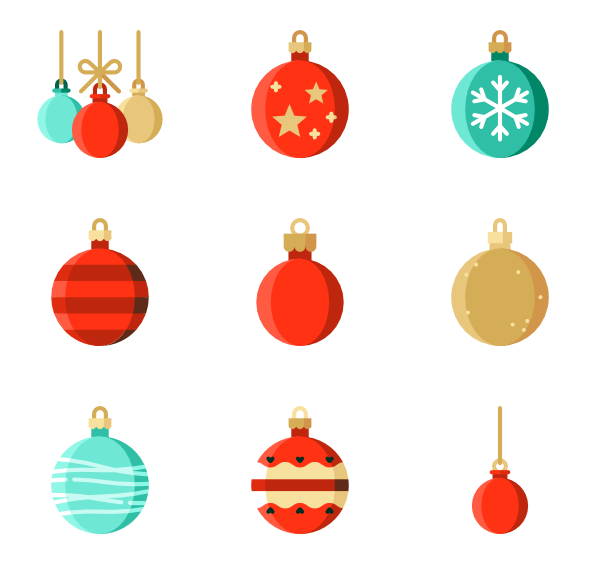 Vector embellishment christmas. Ornament icon packs
