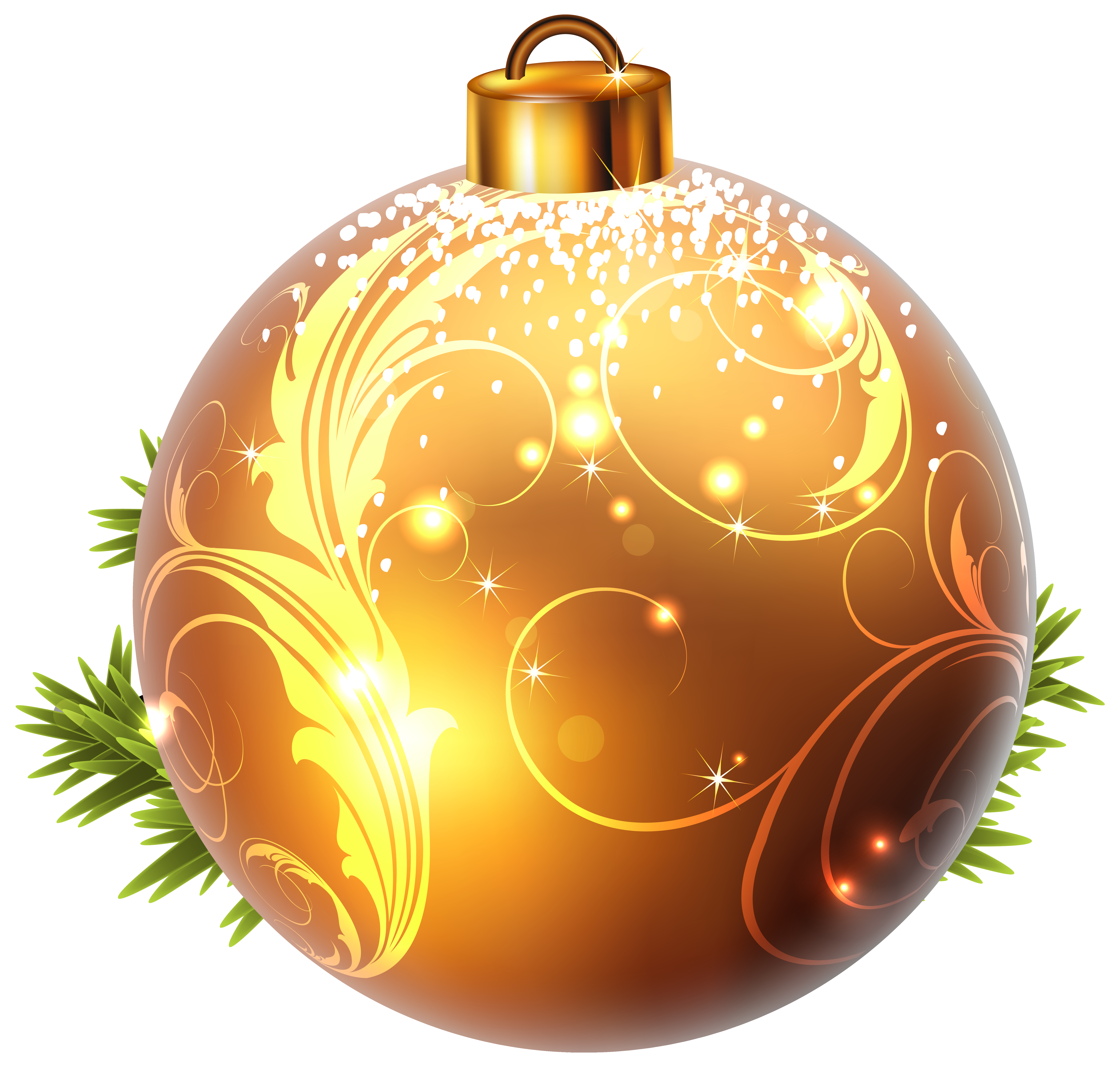 Christmas ball png. Yellow clipart image gallery