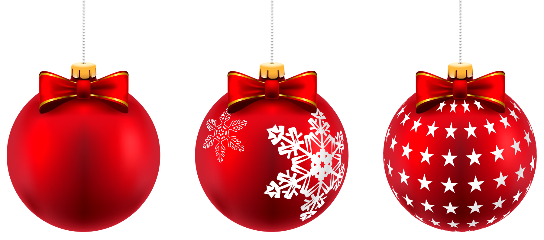 Christmas ball png. With transparant red balls