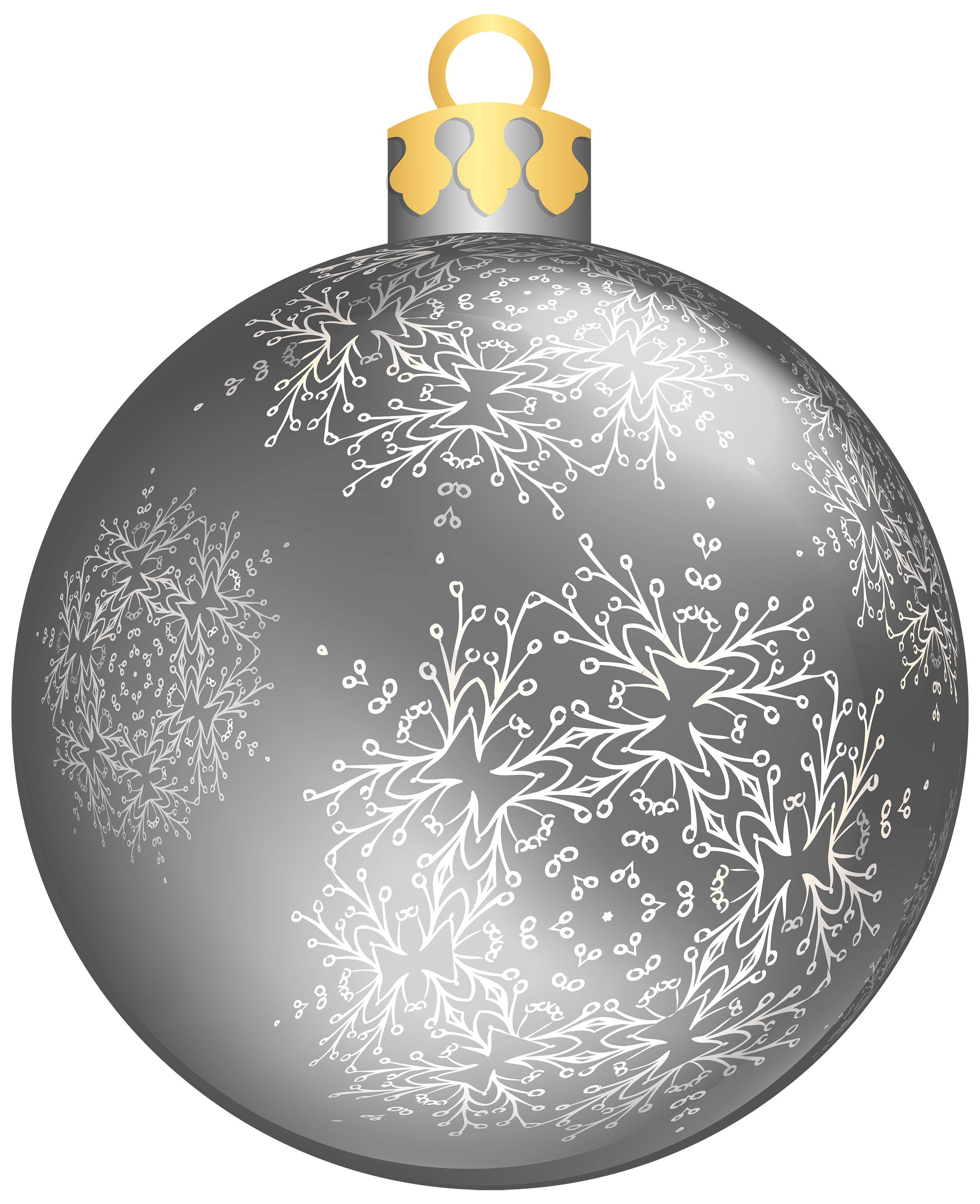 Christmas ball png. Silver clipart best web